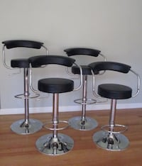 Modern Bar Stool, Adjustable Height (Set of 4)
