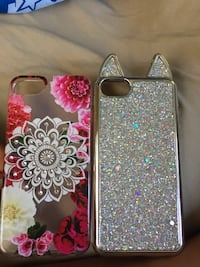 Two pink and gray floral iphone cases Florissant, 63031
