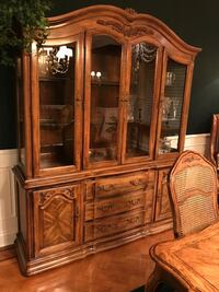 brown wooden china cabinet with cabinet Antioch, 94531