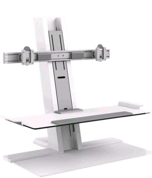 STANDING DESK WITH MONITOR MOUNT. 50540593-c640-432e-84af-47ceacc64220