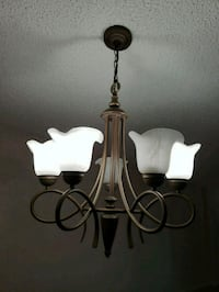 black and white uplight chandelier