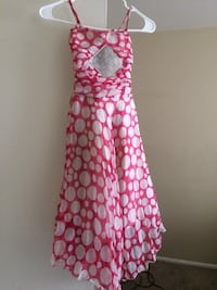 Girls Pink polka dress