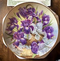 "Katharine Austen ""Mogambo Iris Plate"" Collector's from the Franklin Mint  Reno, 89503"