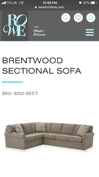 Rowe Furniture Brentwood Sectional Sofa Montréal, H4H 1B3