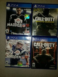 four assorted PS4 game cases Hanover, 21076