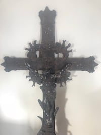 Large ornate iron cross Plymouth