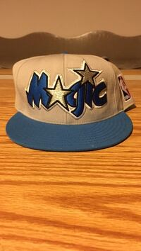 embroidered blue and white Magic flat-brim cap Rockford, 61109