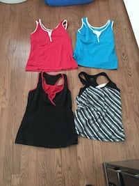 women's four assorted-color tank tops