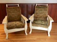 Pair of matching antique reclining Morris Chairs 278 mi