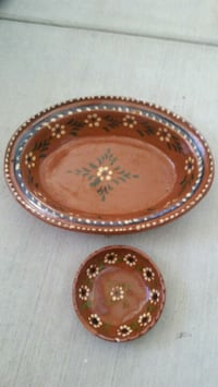 Handmade Mexican Clay Dishes - set of 2 Ventura, 93001