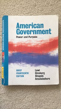 American Government textbook  Boyds, 20841