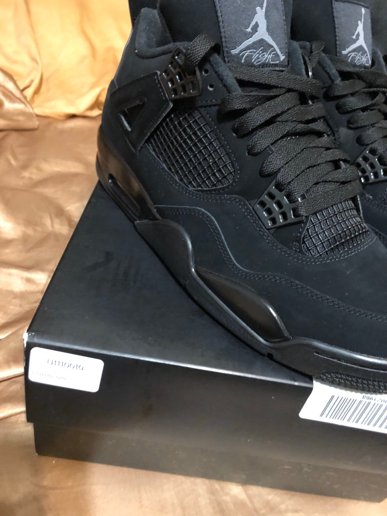 Photo Jordan 4 black cat retro DS 10.5