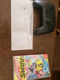 Nintendo switch controller and game