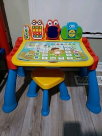 Kids learning desk with stool