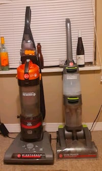 Hoover vacuum and a Hoover carpet cleaner