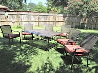 7 pcs. Patio Set Large Table 6 Chairs and Cushions see details PLANO