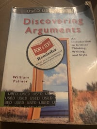 Discovering arguments (college book)  Wrentham, 02093
