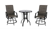 round brown wooden table with two chairs Alexandria, 22304