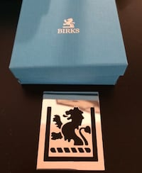 Authentic Silver Plated BIRKS LION Bookmark with Birks Box Toronto