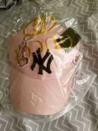 Pink Gucci New York Yankees baseball cap. Calgary, T3K 4R4