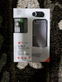 Olloclip 4 in 1 photo lens with ollocase Delta, V4C 3W1