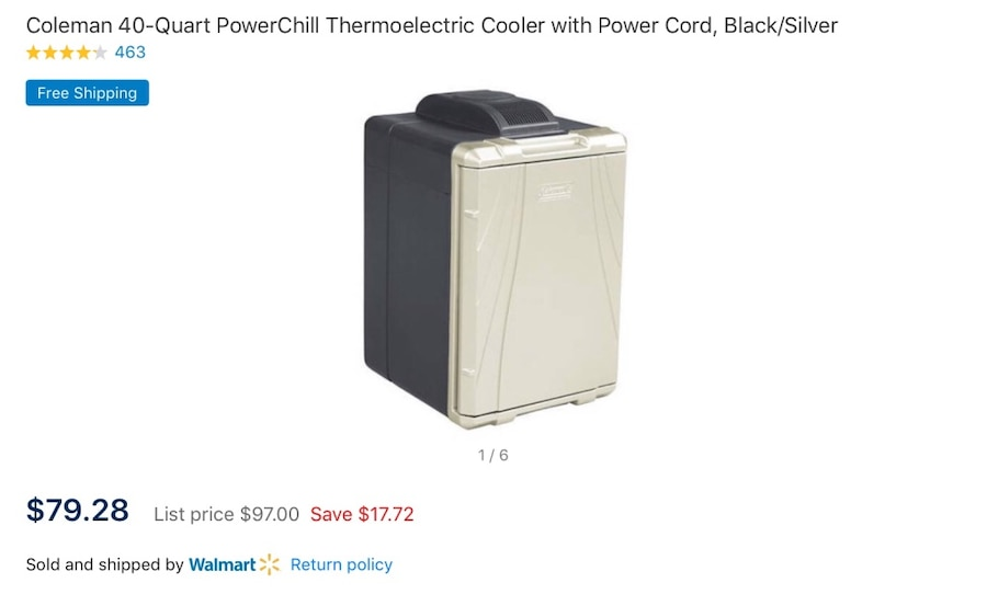 Coleman 40-Quart PowerChill Thermoelectric Cooler With Power Cord