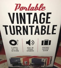 TURNTABLE PORTABLE UNION JACK (3) SPEEDS WITH CARRYING HANDLE! ($179) Kitchener, N2G 2V2