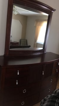 brown wooden dresser with mirror Port Coquitlam, V3B 7Y6