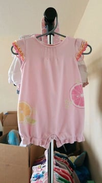 Baby girl's 3-6 month romper