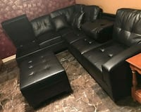 New black leather sectional sofa with ottoman  Silver Spring, 20902