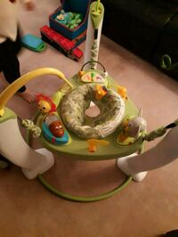 baby's white and green jumperoo Edmonton, T6C 0W3