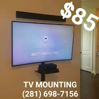 TV INSTALLATION (FREE TILT MOUNT) Jersey Village