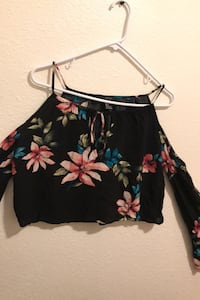 Small Forever 21 Flowered Crop Top
