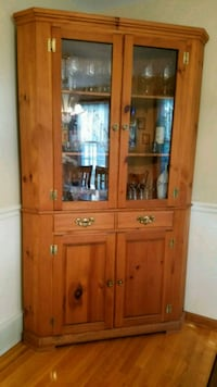 brown wooden framed glass display cabinet Liverpool, 13090