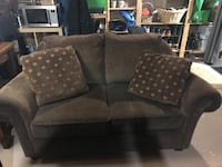brown fabric 2-seat sofa Dorval, H9P 2M6
