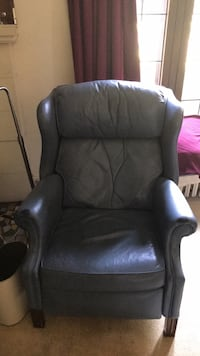 black leather padded sofa chair Solon, 44139