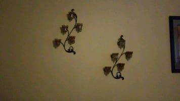 Candle holders decoration