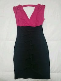 Black and Pink Short Body Con Dress Harvest, 35749