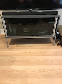 Gray and black wooden tv stand Ballston Spa, 12020