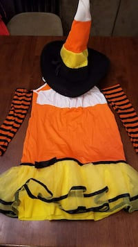 orange , white and yellow Witch Costume Bakersfield, 93314
