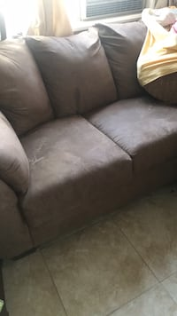 Sofa bed suade  great condition no room for it you hawl away Lancaster, 93535