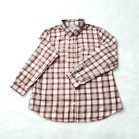 OLD NAVY Women Vintage Red White plaid flannel shirt, L