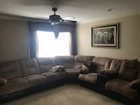 brown leather 3-seat sofa Rochester Hills, 48307