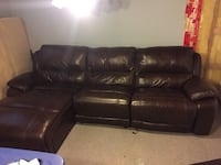 OVERSIZED Leather sectional reclining couch Calgary, T3C 3M4