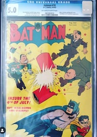 Batman 18 CGC 5.0 Comic Book Mississauga, L5B 0H3