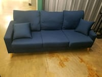 Small Three Seater Couch Blue Good Condition Alexandria, 22314