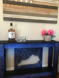 Handmade Kentucky blue stained sofa console table