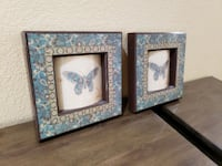 2 Butterfly Decorative Pictures in Frames Las Vegas, 89169