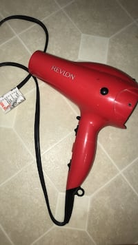red Revlon corded hair dryer