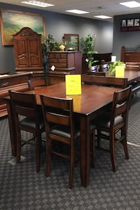 Dining Set - Table, 3 Chairs & 1 Bench